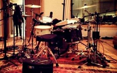 Recording BIG drums for Patterns debut album