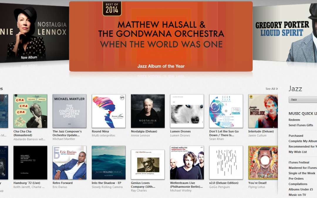 iTunes Jazz Album of the Year 2014 produced @ 80 HERTZ