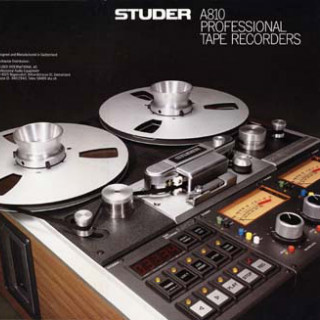 Studer A810 1/4 inch machine